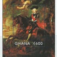 Ghana 1990 - picturi Rubens, colita neuzata