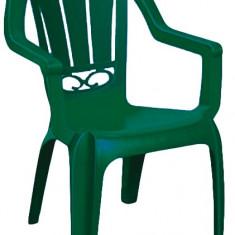 Scaun gradina cu brate MILAS culoare verde Raki