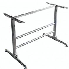 Picior,baza pentru masa cu blat dreptunghiular cromata Raki