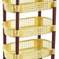Raft pentru legume 4 etaje oval cu roti 47x28, 5x82cm MN0131108 Raki - Raft/Etajera