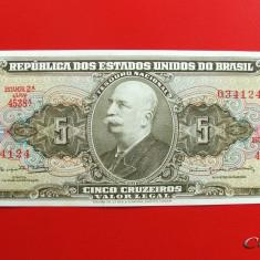 BRAZILIA - 5 Cruzeiros ND ( 1964 ) - UNC - bancnota america