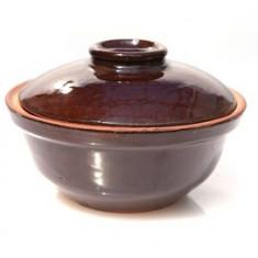 Oala ceramica, lut 500ml culoare cafea Devon - oala, cratita, Vas ceramic