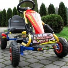 Kart cu pedale si suspensi Baby Mix - Albastru - Masinuta electrica copii