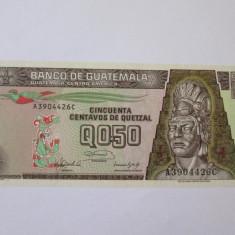 Guatemala 0.5 Quetzal 1992 UNC - bancnota america