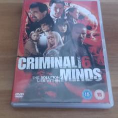 Criminal Minds - Season 6 - 24 Ep - DVD [B, C] - Film serial, Politist, Engleza