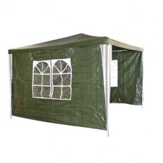 Pavilion patrat 3x3m nailon verde cu 3 parti Raki - Pavilion gradina