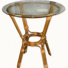 Masa rotunda din bambus 70cm MN015034 Raki - Tava servire
