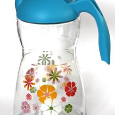 Cana apa, suc 1, 5l décor flori MN015402 Raki - Filtru si cana filtranta