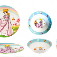 Set serviciu masa din portelan pentru copii Printesa Raki