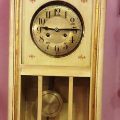 Ceas de perete cu pendula - alb