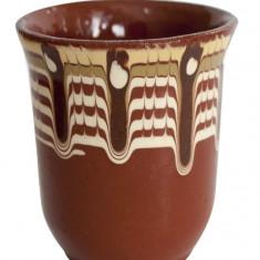 Cana ceramica, lut 100ml fara toarta Devon - Arta Ceramica