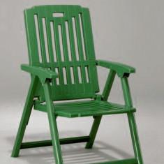 Scaun cu brate pliant din masa plastica culoare verde Raki - Scaun gradina