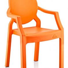 Scaun pentru copii din masa plastica 31x33x65cm culoare orange Raki - Scaun gradina