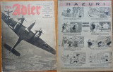Revista aviatiei germane Luftwaffe , Der Adler , nr. 15 , 1943 , in limba romana