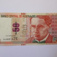 Peru 50 Nuevos Soles 2009 - bancnota america