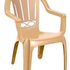 Scaun cu brate din masa plastica MILAS 89x53cm culoare bej Raki