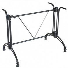 Picior,baza aluminiu pentru masa cu blat dreptunghiular culoare neagra Raki