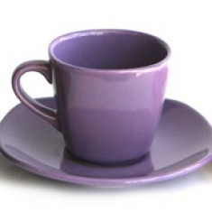 Set sevice ceai din ceramica 12 piese culoare rosie Seramic