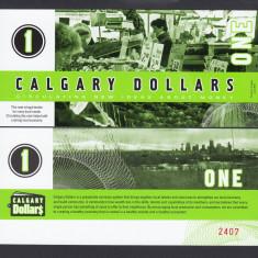 X . RARR : LOCAL MONEY = CANADA, CALGARY - 1 DOLAR 2010 - UNC/PLASTICAT - bancnota america
