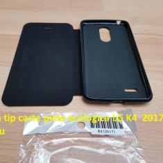 Husa tip carte piele ecologica LG K4 2017 negru - Husa Telefon LG, Cu clapeta