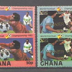 Ghana 1982 - CM fotbal Spania, serie supr neuzata