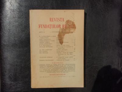 Revista fundatiilor regale no.10 anul II OCtombrie 1935 foto