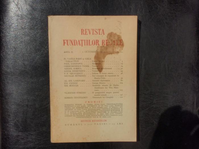 Revista fundatiilor regale no.10 anul II OCtombrie 1935