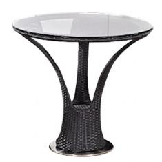 Masa rotunda COMO BLACK din ratan pentru bar Raki - Mobila Rattan