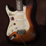 chitara electrica fender squier +husa ibanez,upgradata! este de stangaci!!
