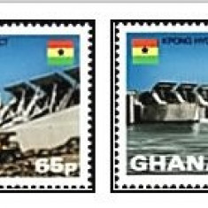 Ghana 1982 - hidrocentrale, serie neuzata