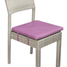 Scaun KALINA NORTE din ratan PVC si cadru aluminiu cu perna scaun mov Raki - Mobila pentru terasa