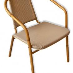 Scaun cu brate din ratan si cadru bambus MN010117 Raki - Mobila Rattan