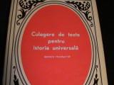 CULEGERE DE TEXTE PTR. IST. UNIV.-EPOCA MODERNA,VOL1-1640-1848-359 PG A 4-, Alta editura
