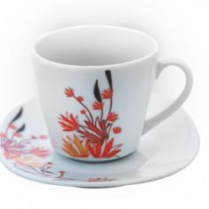 Serviciu cafea din portelan 12 piese, MN012742 Portelan