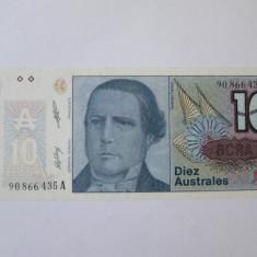 Argentina 10 Australes 1985-1989 UNC - bancnota america, An: 1998