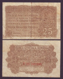 SV * Romania  25  BANI  1917   Banca Generala Romana   ocup. Germania WWI     VF