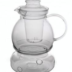 Ceainic din sticla termorezistenta cu filtru si incalzitor 1,5l Termisil