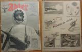 Revista aviatiei germane Luftwaffe , Der Adler , nr. 3 , 1943 , in limba romana