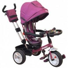 Tricicleta multifunctionala Solaris BabyMix - Violet - Tricicleta copii