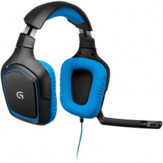 Casti Logitech Over-Head G430 Black-Blue - Casca PC