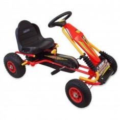 Kart cu pedale si suspensi Baby Mix - Rosu - Masinuta electrica copii