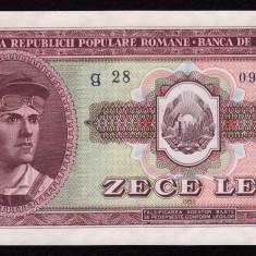 ROMANIA, 10 LEI 1952, UNC - Bancnota romaneasca