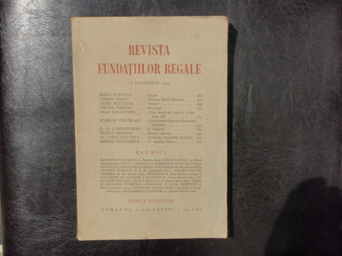Revista fundatiilor regale no.12 Decembrie 1934