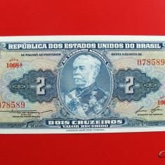 BRAZILIA - 2 Cruzeiros ND ( 1958 ) - UNC - bancnota america