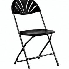 Scaun metalic pliant pentru evenimente, catering culoare neagra Raki - Mobila pentru terasa