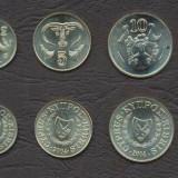 CIPRU SET COMPLET DE MONEDE 1/2, 1, 2, 5, 10, 20, 50 Cent 1983-2004 UNC, Europa