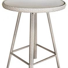 Masa rotunda BONITO din ratan cadru aluminiu pentru bar Raki - Mobila Rattan