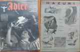 Revista aviatiei germane Luftwaffe , Der Adler , nr. 18 , 1943 , in limba romana