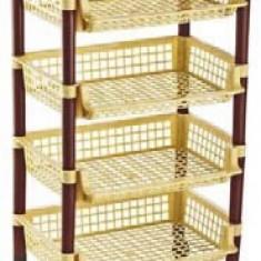 Raft pentru legume 5 etaje cu roti 33x45x82cm MN0131302 Raki - Raft/Etajera