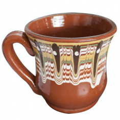 Cana ceramica, lut 300ml pentru lapte cu toarta Devon - Arta Ceramica